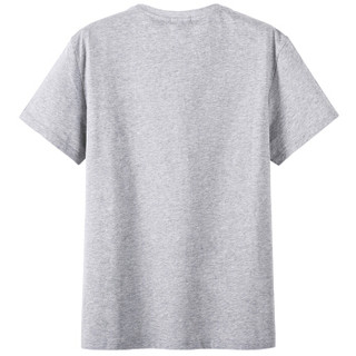 Semir 森马 19037001231 男士纯棉半袖T恤 中花灰 M