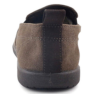 WARRIOR 回力 W912 男士一脚蹬帆布鞋 咖啡 41