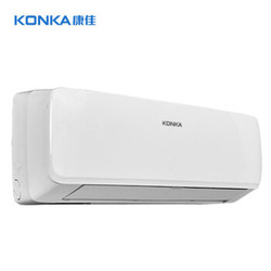 康佳(KONKA)1.5匹 壁挂式 快速冷暖 定速空调(纯铜管) 隐藏显示屏LED 静音省电KFR-35GW/DKG02-E3