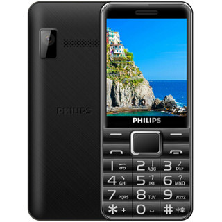 PHILIPS 飞利浦 E132X 老人手机 珠光黑 直板按键 超长待机 移动联通2G 双卡单待