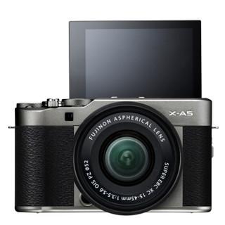 FUJIFILM 富士 X-A5 无反相机套机 (XC 15-45mm) 深银色