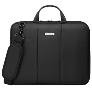 Lenovo 联想 电脑包14英寸手提公文包 商务超薄13.3英寸男女苹果华硕小新戴尔小米华为笔记本电脑包 黑色