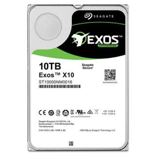 SEAGATE 希捷 银河Exos X10 企业级硬盘 10TB 256MB 7200rpm ST10000NM0016