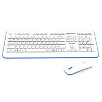 iFound 方正 W6201 无线键鼠套装 白蓝色