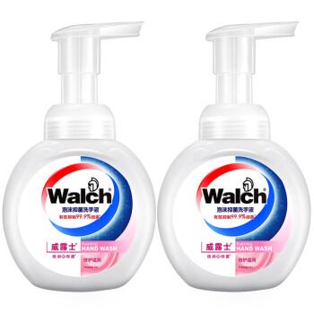 Walch 威露士 威露士 泡沫抑菌 洗手液 倍护滋润 225ml*2瓶