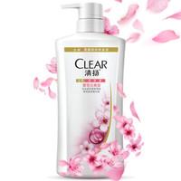 清扬 (CLEAR) 去屑洗发水 樱花沁爽型500ml 受损发质;中性;干性;油性;所有发质 成人适用 *2件