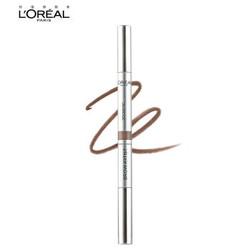 欧莱雅(LOREAL)眉笔大师三头塑形眉笔 浅棕0.2g(欧莱雅彩妆 一笔三头 简单塑型) *2件