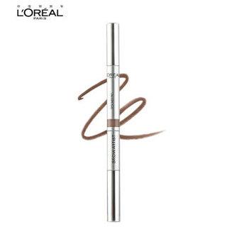 欧莱雅(LOREAL)眉笔大师三头塑形眉笔 浅棕0.2g(欧莱雅彩妆 一笔三头 简单塑型)