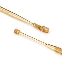 匠の技 Mr.Green M-2157plus+ 双头螺旋耳勺 葫芦型耳勺扣耳勺挖耳勺眉夹 不锈钢 金色 *3件