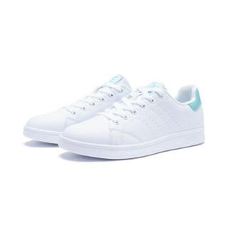 XTEP 特步 983218319266 女士板鞋 (白浅绿、37)