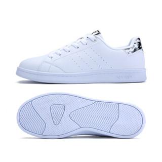 XTEP 特步 983218319266 女士板鞋 (白灰、39)