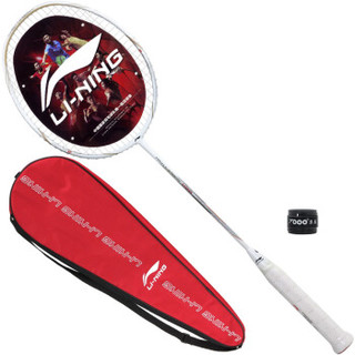 LI-NING 李宁 初中级进阶全碳素羽毛球拍单拍 HC1100 白金(已穿线)