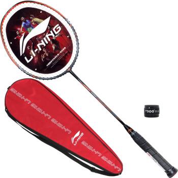 LI-NING 李宁 HC1100 羽毛球拍 单只装 AYPM014-1 黑橙 4U
