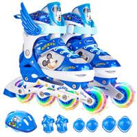 Disney 迪士尼 儿童全套装轮滑鞋 (蓝米奇、S码)
