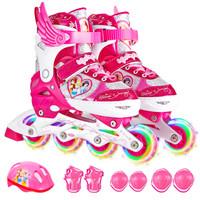 Disney 迪士尼 儿童全套装轮滑鞋 (粉公主、S码)