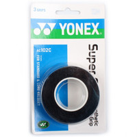YONEX 尤尼克斯 AC-102C 羽毛球拍握把胶 黑色三条装