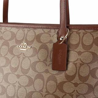 COACH 蔻驰 奢侈品 女士卡其色PVC手提单肩托特包 F58292 IME74