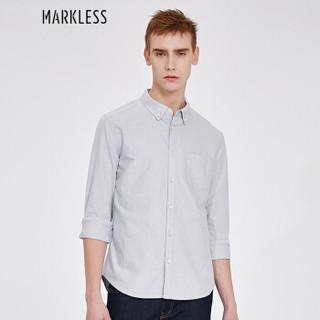 Markless CSA7504M 男士长袖衬衫 灰色 L
