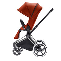 德国cybex宝宝婴儿推车 PRIAM 高景观座双向可坐可躺可折叠儿童手推车 秋叶金银车架全地轮