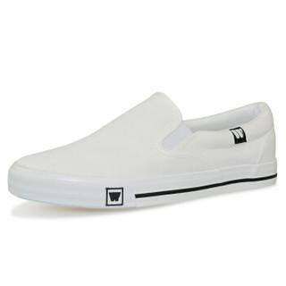 WARRIOR 回力 WXY-903 男士套脚帆布鞋 白色 41