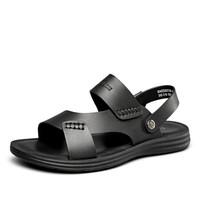 YEARCON 意尔康 8342ZS68752W 男士沙滩凉鞋 黑色 38