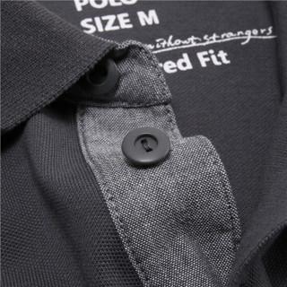 GIORDANO 佐丹奴 01016242 男士短袖POLO衫 05标志灰色 170/96A