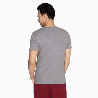 InteRight 5995521 男士圆领短袖打底衫 麻灰色 L