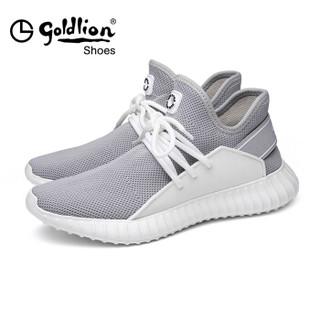 goldlion 金利来 537820264NPQ 男士飞织面布跑鞋 灰色 44