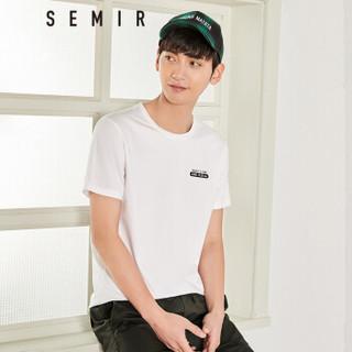 Semir 森马 19048001209 男士圆领短袖T恤 漂白 XS
