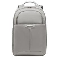 新秀丽电脑包13.3英寸双肩背包男女手拎书包 Samsonite商务旅行包BP2 浅灰色