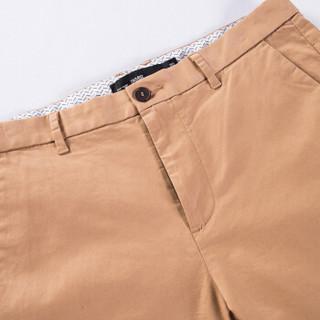 Semir 森马 13316271201 男士纯色修身休闲长裤 卡其 36