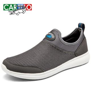 CARTELO KDLK23 男士一脚蹬套脚跑步鞋 灰色 42