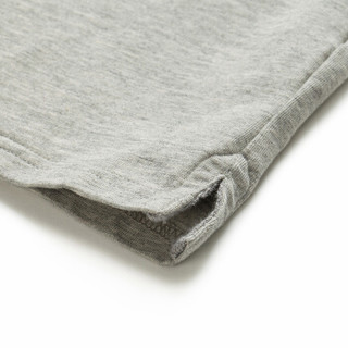 Markless TXA7662M 男士圆领短袖T恤 灰色 L
