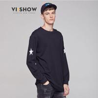 ViiSHOW TC48663 男士几何图案圆领长袖T恤