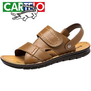 CARTELO L002 男士休闲凉鞋 卡其色 38