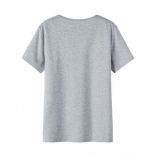 Semir 森马 19048001270 男士圆领短袖T恤 中花灰 XL