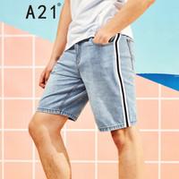 A21 4821023000 男士五分短裤 蓝白 32