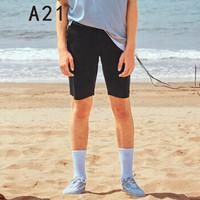 A21 4821044002 男士直筒五分短裤 黑色 32
