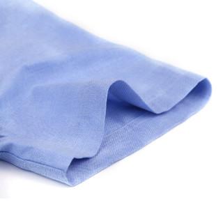 CARTELO KNJFDX 男士牛津纺短袖衬衫 蓝色 43
