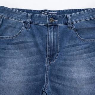 Semir 森马 11216231056 男士牛仔六分裤 牛仔深蓝 34