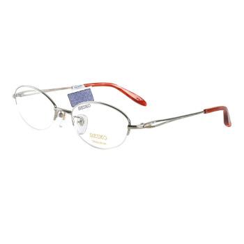 SEIKO 精工 HO-2058-02 银色金属半框光学眼镜框架