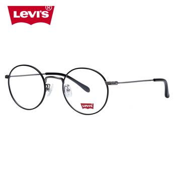 Levi's 李维斯 LS5237Z-C03 金属圆框复古时尚近视光学镜架(黑色)