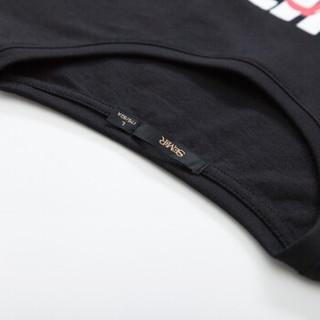 Semir 森马 19038001237 男士圆领短袖T恤 黑色 L