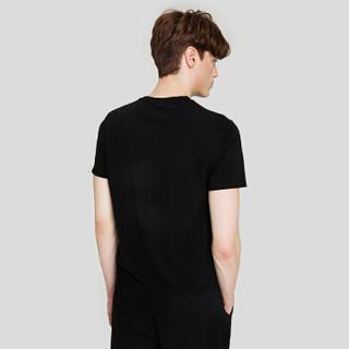 Markless TXA7662M 男士圆领短袖T恤 黑色 XL
