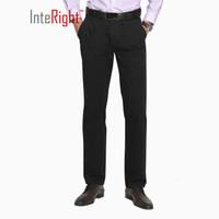 InteRight 男士商务休闲裤 (32码、黑色)