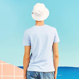 A21 4821330167 男士圆领印花短袖T恤 浅蓝 L