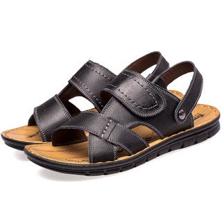 CARTELO L002 男士休闲凉鞋 黑色 41