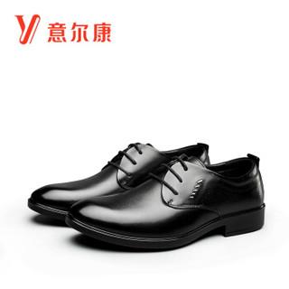 YEARCON 意尔康 6542ZE97899W 男士商务正装皮鞋 黑色 41