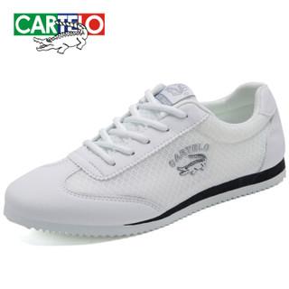 CARTELO KDLK20 男士网面运动鞋 白色 41