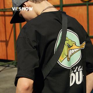 ViiSHOW TD1620182 男士短袖T恤 黑色 L